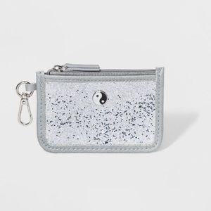 Wild Fable Silver Glitter Yin Yang Wallet NWT -90s